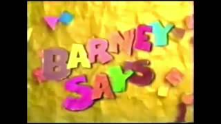 Video from Closing to Sing and Dance with Barney 1999 VHS