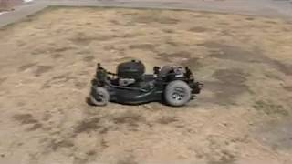 Home Made Rc Lawn Mower Test Drive