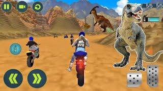 Juegos de Motos Para Niños - Videos Para Niños - Escape de Motos en Camino de Dinosaurios