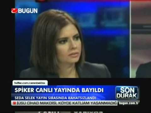 Spiker Seda Selek canlı yayında bayıldı.