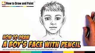 How to Draw a Boy - Draw a Face in Pencil - How to Draw a Person | CC