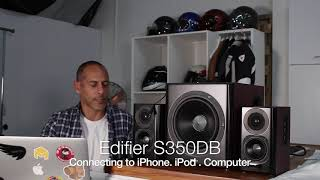 Edifier S350DB / Connecting it