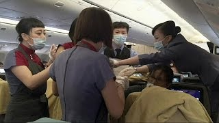 Air born: woman gives birth on plane