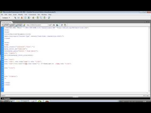 download file in php