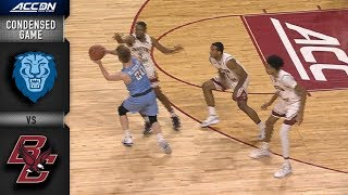 Columbia vs. Boston College Condensed Game   2018-19 ACC Basketball