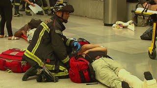 Train crash in Barcelona injures upwards of 50
