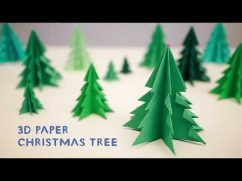 Origami Tree - Origami 3D Paper Christmas Tree