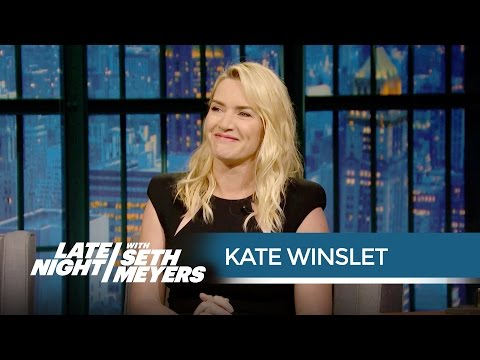 Xxx Mp4 Kate Winslet Keeps Her Oscar In Her Bathroom Late Night With Seth Meyers 3gp Sex