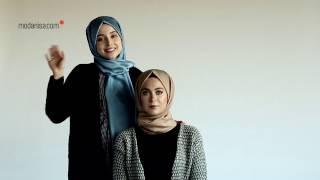 Rabia Karaca ile Şal Bağlama | İç Başörtü İle Topuz Yapımı