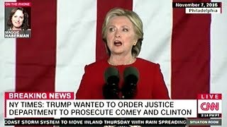 President Trump Wants Justice Department To Prosecute Hillary Clinton But Lawyers Won