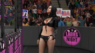 WWE 2K18 Gianna Michaels cage match vs Carmella Bing