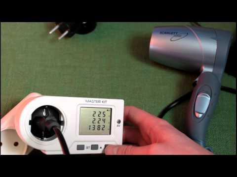 Watch Измеритель мощности электроэнергии MASTER KIT MT4011, Ваттметр. - Motion Tube - Video Sharing