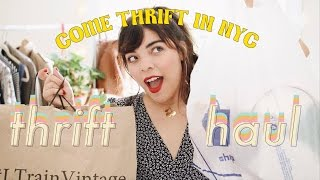 NYC VINTAGE THRIFT HAUL: Goodwill & L Train Vintage
