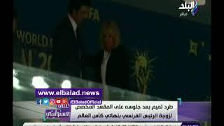 أحمد موسى يكشف حقيقة طرد أمير قطر من مقصورة نهائي كأس العالم