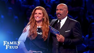 Team Menounos' amazing Fast Money! | Celebrity Family Feud
