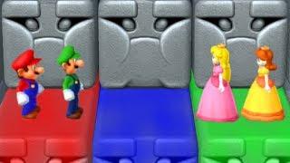 Mario Party 10 - Minigames - Peach vs Luigi vs Mario vs Daisy