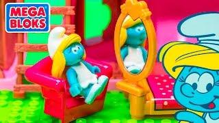 THE SMURFS Mega Bloks Smurfette's House Video Toy Review