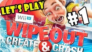 Let's Play Wipeout: Create and Crash pt.1 - Second Helpings - 4 Player WiiU Co-Op