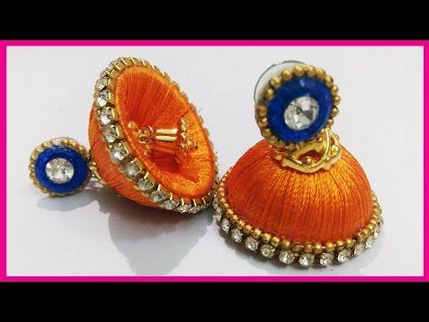 How To Make Silk Thread Earrings | Silk Thread Jewelry Making Tutorial