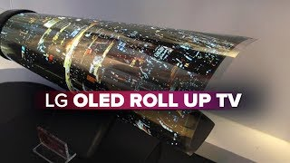 LG OLED TV rolls up like a piece of paper