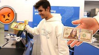 BUYING STUFF WITH A FAKE MONEY $1,000,000! | David Vlas