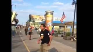Video When Acting Hard Goes Wrong Bully Gets A One Hit Knock Out On Atlantic City Boardwalk