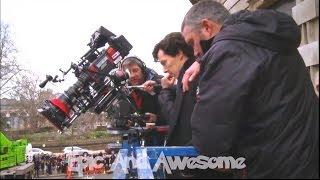 Sherlock - Filming Benedict Cumberbatch falling {HD}