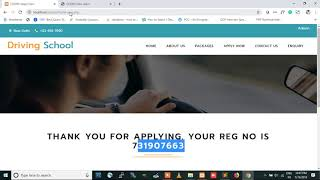 Car Driving School Management System Using PHP and MySQL