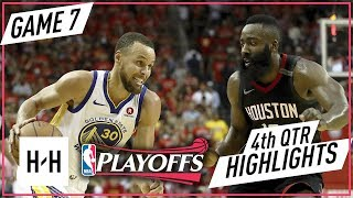 Golden State Warriors vs Houston Rockets - Full Highlights - Game 7 - 4th Qtr   2018 NBA West Finals