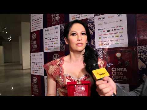 CINEMA LOUNGE interviewed MERIAM BELLINA at PIALA MAYA 2014