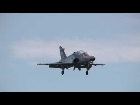 3 RAAF Hawk 127 Landings & F/A-18 Hornets Take Off