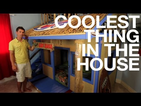 Kids Room Surf Shack Bunk Bed COOLEST THING IN THE HOUSE EP19