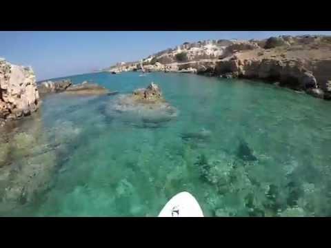 cave SUP Kalathas beach