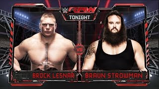 WWE RAW 9/28/15 - Brock Lesnar vs Braun Strowman - WWE RAW 2K15 Match