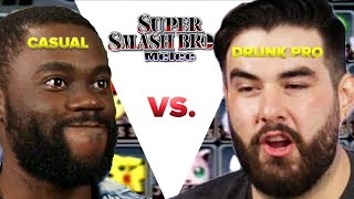 "Regular Person Tries To Beat A Drunk Pro Gamer In ""Super Smash Bros Melee"""