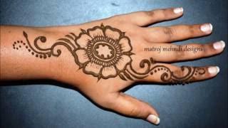 How to do simple beautiful Henna Mehndi designs for hands-Matroj Mehndi designs