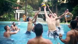 Mustafizur Rahman & Sunrisers Hyderabad playing volleyball in the pool  SRH vs RCB ipl 2016