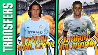 Edinson Cavani a Man. City-ben?? Rashford a Real Madridban? | Tiki-Taka Transfers