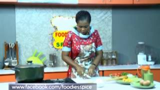 Foodies and Spice Ingredient: Crispy Chicken with Pepperoni Jollof Rice