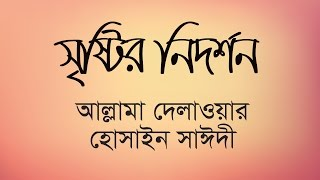 Waz mahfil | সৃষ্টির নির্দশন | Sristir nidorshon | Allama Delwor Hossain Sayeedi