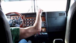 Kenworth W900L Shifting and Jakebraking