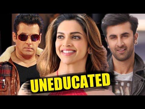 Bollywood's LESS EDUCATED Stars | Salman Khan, Katrina Kaif, Deepika Padukone