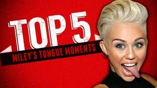 Miley Cyrus' Top Tongue Moments - Top 5 Fridays