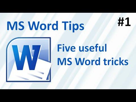 Five useful MS Word tricks (MS word tips #1)