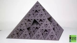 Prusa i3 MK2 3D printed FRACTAL PYRAMID time lapse