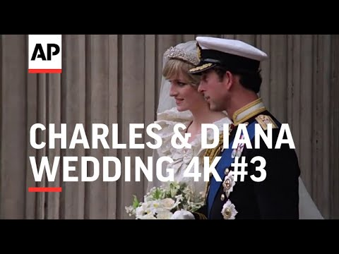 Charles & Diana Wedding in 4K Part 3 after the ceremony 1981