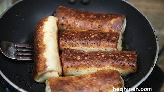 Մսով Նրբաբլիթ - Meat Crepes Recipe - Հեղինե (in Armenian)
