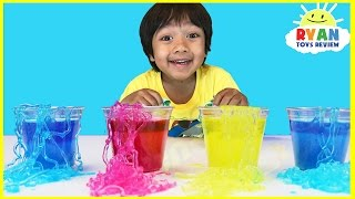 Instant Worms Polymer Science Experiments for Kids to do at home! Family Fun Children Activities