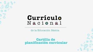 Currículo Nacional: cartilla de planificación curricular