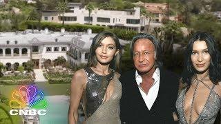 Go Inside Gigi & Bella Hadid's Childhood Mega-Mansion   Secret Lives of the Super Rich   CNBC Prime